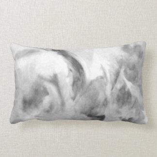 Almofada Lombar arte abstracta - névoa