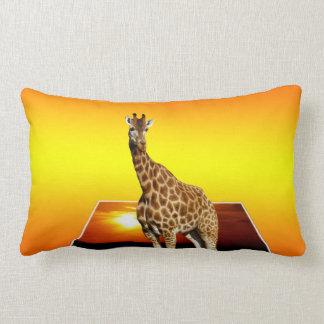 Almofada Lombar Arte do Popout da luz do sol do girafa, coxim