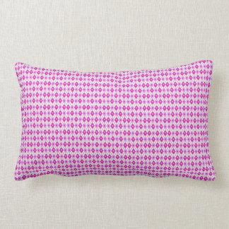 Almofada Lombar arte retangular cor-de-rosa bonito, travesseiro