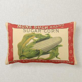 Almofada Lombar Arte vegetal da etiqueta do vintage, nenhuma tal
