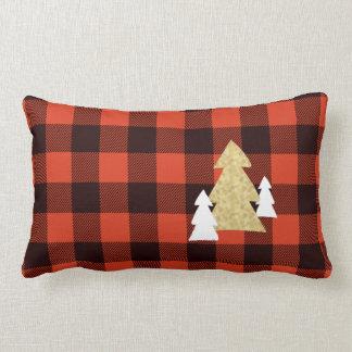 Almofada Lombar Árvores de Natal no travesseiro decorativo