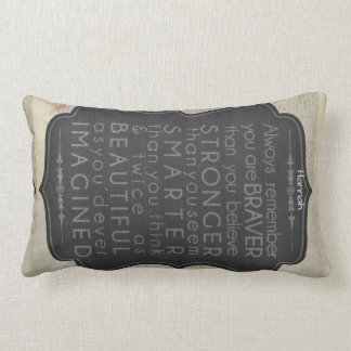 Almofada Lombar As palavras inspiradores do presente do