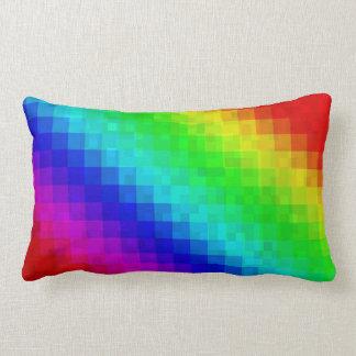 Almofada Lombar Azulejos de mosaico teste padrão do arco-íris,