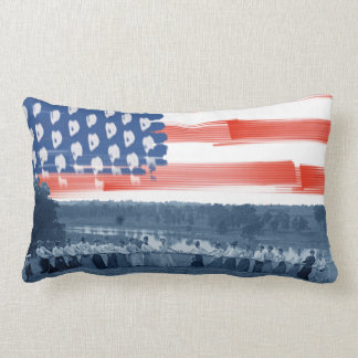Almofada Lombar bandeira americana da Reboque-O-Guerra do conflito