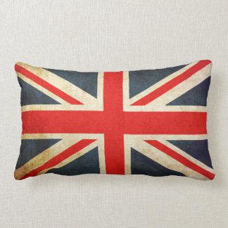 Almofada Lombar BANDEIRA de Union Jack Reino Unido do Grunge do