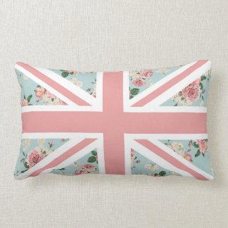 Almofada Lombar Bandeira inglesa de Union Jack dos rosas