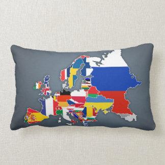 Almofada Lombar Bandeiras de país européias do mapa |