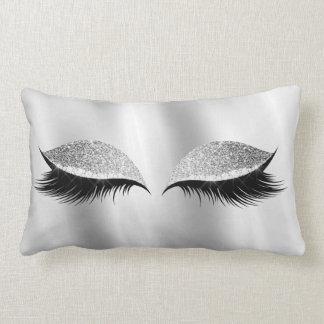 Almofada Lombar Beleza Glam da seda da composição do preto do