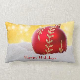 Almofada Lombar Bola do Natal da neve de Bokeh do Natal
