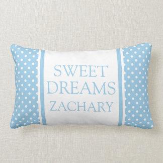 Almofada Lombar Bolinhas brancas em sonhos doces azuis da casa de