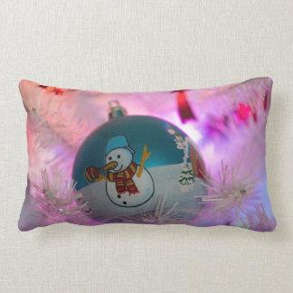 Almofada Lombar Boneco de neve - bolas do Natal - Feliz Natal