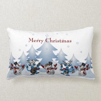 Almofada Lombar Boneco de neve bonito do Natal e banda da rena