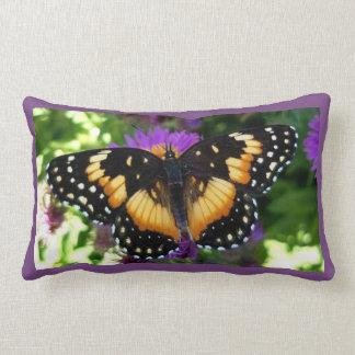 Almofada Lombar Borboleta limitada do remendo no travesseiro roxo