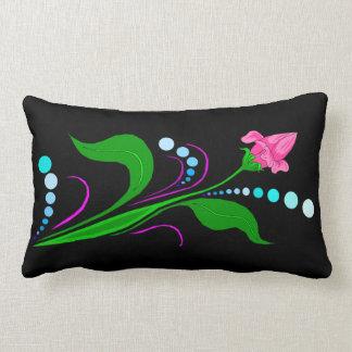 Almofada Lombar Botão cor-de-rosa