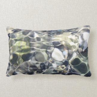 Almofada Lombar Branco astuto abstrato e azul elegantes