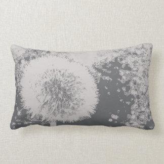 Almofada Lombar Branco cinzento da flor abstrata floral moderna do