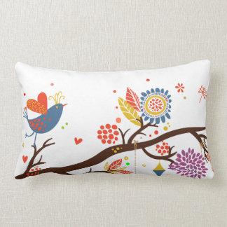 Almofada Lombar caixa bonito do travesseiro dos pássaros do amor