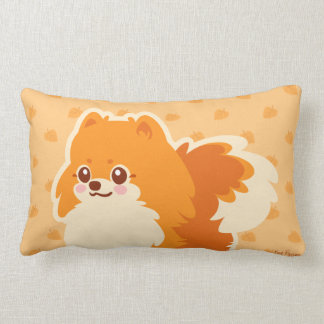 Almofada Lombar Cão dos desenhos animados de Kawaii Pomeranian