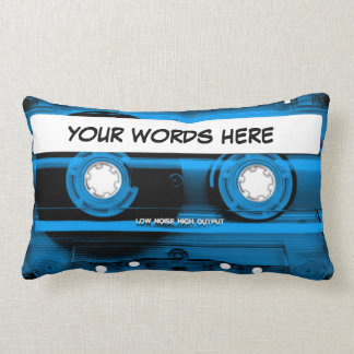 Almofada Lombar Cassete de banda magnética azul personalizada
