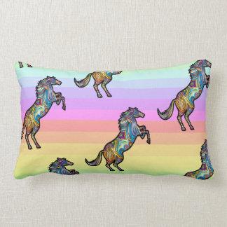 Almofada Lombar Cavalo Running do arco-íris no arco-íris BG