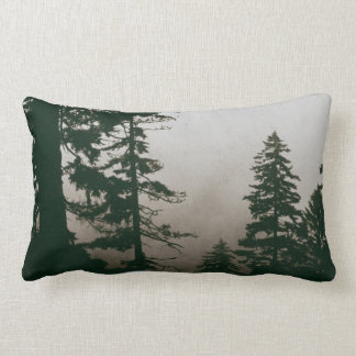 Almofada Lombar Cena da paisagem do pinheiro da floresta da