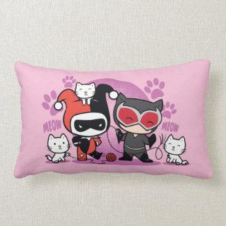 Almofada Lombar Chibi Harley Quinn & mulher-gato de Chibi com