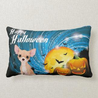 Almofada Lombar Chihuahua feliz do Dia das Bruxas