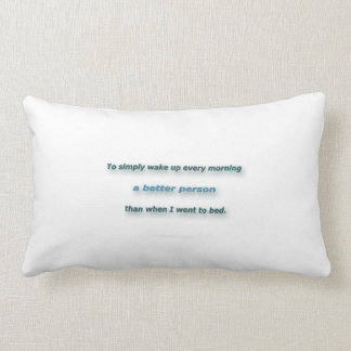 Almofada Lombar Citações da manhã por Sidney Poitier - para