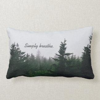 Almofada Lombar Citações inspiradas - travesseiro da floresta da