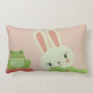 Almofada Lombar coelho bonito do bebê e travesseiro do sapo