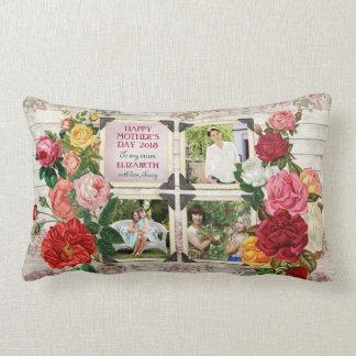 Almofada Lombar Colagem da foto do vintage de Instagram dos rosas