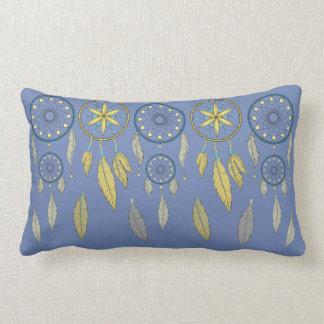 Almofada Lombar Coletores ideais azuis e amarelos