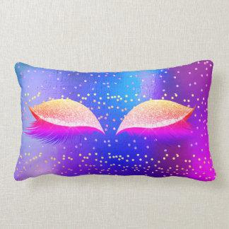 Almofada Lombar Composição cor-de-rosa fluorescente brilhante do