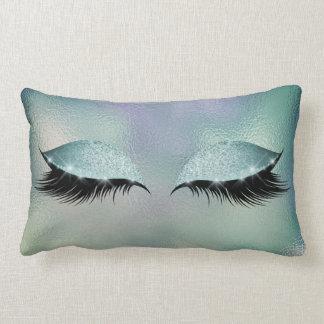 Almofada Lombar Composição de vidro do brilho do sono dos chicotes