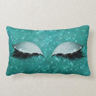 Almofada Lombar Composição Sparkly Glam aquática do brilho do