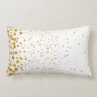 Almofada Lombar Confetes dourados