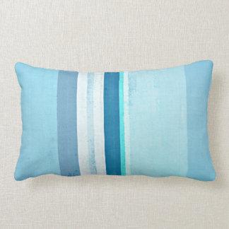 """Almofada Lombar """"Congelando"""" a arte abstracta azul"""