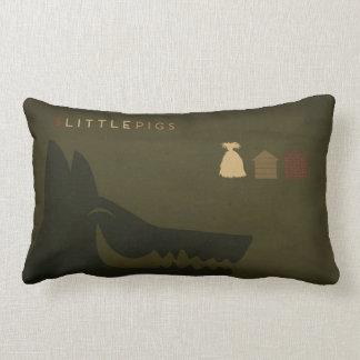 Almofada Lombar Contos de fadas minimalistas | os 3 porcos