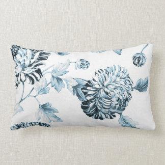 Almofada Lombar Cora a cerceta Toile floral botânico azul No.2