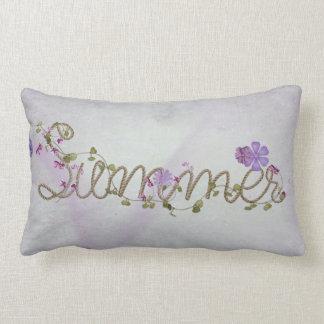 Almofada Lombar corda e flores do verão