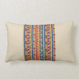 Almofada Lombar Coxim colorido da arte popular