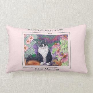 Almofada Lombar Coxim do dia das mães do gato, mamãe feliz do dia