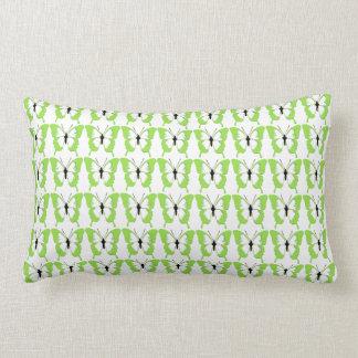 Almofada Lombar coxim na moda das borboletas do verde do teste