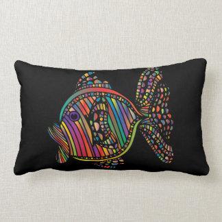 Almofada Lombar coxim retangular dos peixes do arco-íris