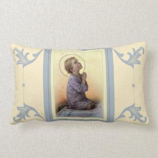 Almofada Lombar Criança Jesus do menino que praying em sua cama