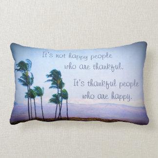 """Almofada Lombar Das citações de Havaí pessoas """"gratas"""" da foto das"""