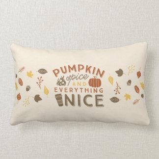 Almofada Lombar Decoração tipográfica da casa do outono da