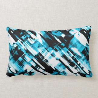 Almofada Lombar Descanse o digitalart abstrato azul e preto quente