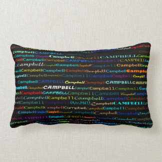 Almofada Lombar Design de texto de Campbell mim travesseiro lombar