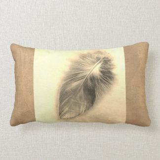Almofada Lombar design do travesseiro da arte da pena em tons do